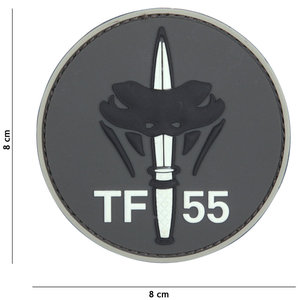 Badge PVC Velcro 3D NL SF  TF 55 Gray