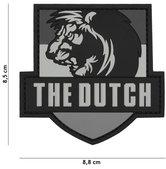 Badge-PVC-Velcro-3D-NL-Leeuw-the-Dutch-7-cm