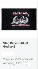 Vlag-Alg.-Airborne-Kill-All--Zwart