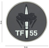 Badge-PVC-Velcro-3D-NL-SF--TF-55-Gray