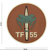 Badge-PVC-Velcro-3D-NL-SF-TF-55-brown