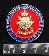Eens Marinier...Altijd Marinier  COIN Met in graveert eigen KM nummer!!