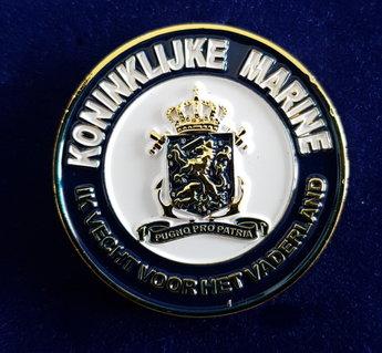 Koninklijke Marine Coin met in graveert KM nummer!