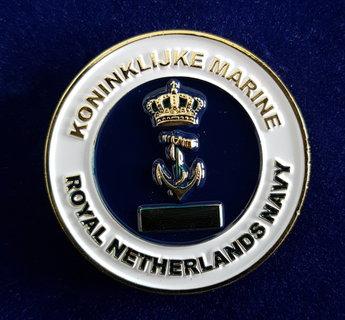 Coin Koninklijke Marine  met in graveert KM nummer !