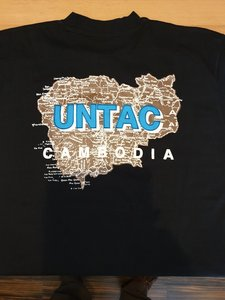 T shirt Cambodia  UNTAC maat XL