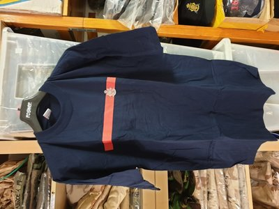 Korps T shirt maat XL blauw / rode bies
