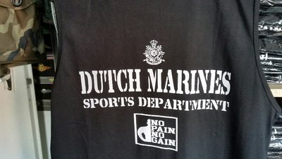 DM Sports T No Pain No Gain Zwart