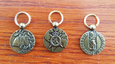 Klein set van 3 Medailles