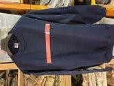 Korps-sweater-maat-XL-blauw-rode-bies