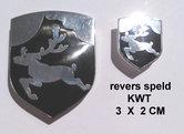 Revers speld KW 3x2 cm