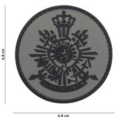 Badge-PVC-Velcro-3D-Korps-gray-7-cm