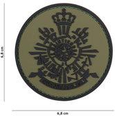 Badge-PVC-Velcro-3D-Korps-groen-7-cm