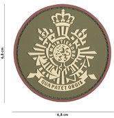 Badge-PVC-Velcro-3D-Korps-khaki-7-cm