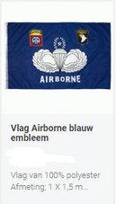 Vlag-Alg.-Airborne-Blauw-Para-embleem