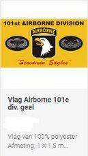 Vlag-Alg.-Airborne-Geel-Eagle-embleem