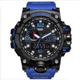 Horloge-Military-sport-Mudmaster-BLUE--ZWARTE-BAND