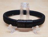 Polsband-gevlochten-leer-zwart-22-cm--QPO-1665